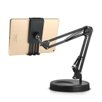 Photography Video Desktop Suspension Arm Bracket Stand Metal Base With Clip Holder for Cell Phone/Tablet/Ipad Photo Shooting