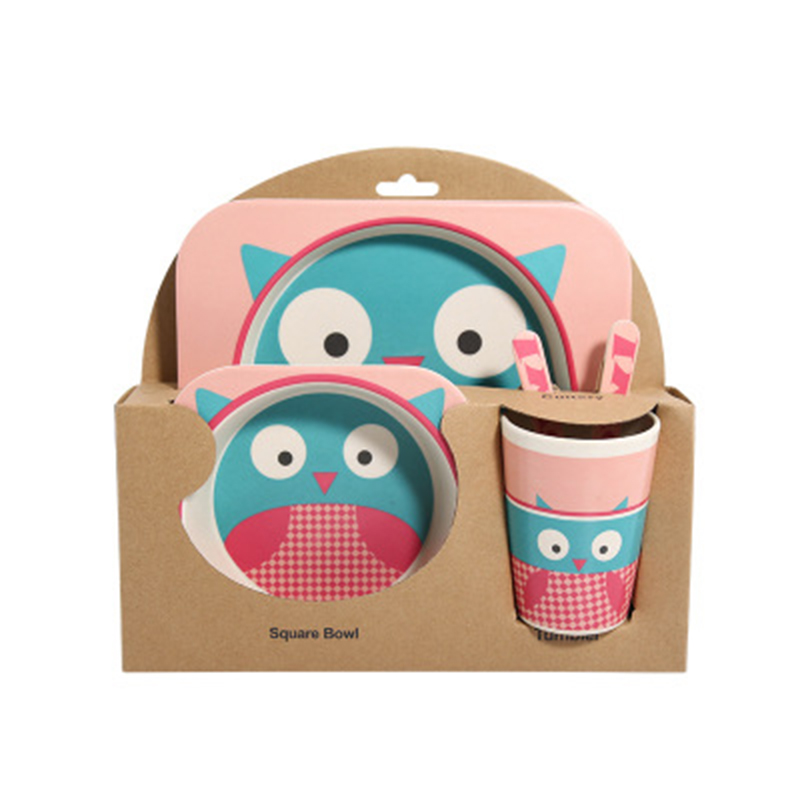 Baby 5 teile/satz Schüssel Set Kind Kreative Anti-herbst Bambus Faser Geschirr Fütterung Partition Gerichte Geschirr Geschenke