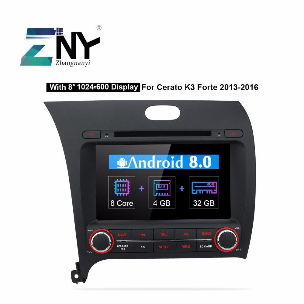 8 IPS Android 8.0 Auto Radio Lecteur DVD de Voiture Pour Kia Cerato K3 Forte 2013 2014 2015 2016 2 din Bluetooth GPS Navigation 4 gb RAM