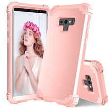 купить Hybrid Armor Case For Samsung Galaxy Note 10 9 S9 S8 360 Full Body Heavy Silicone PC Shockproof Cover For Samsung S10 Plus Case по цене 313.49 рублей