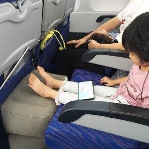Image 3 - Şişme sökülebilir Footrest yastık çocuklar uçuş Footrest yastık ayrı olarak 3 farklı yükseklik seyahat yastık ayak pedi