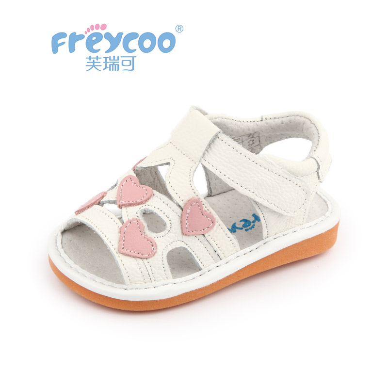 Freycoo New Summer Sandals Kids Shoes Baby Sandals Children High Quality Walk With Sound Called Kids Girl Princess Shoes