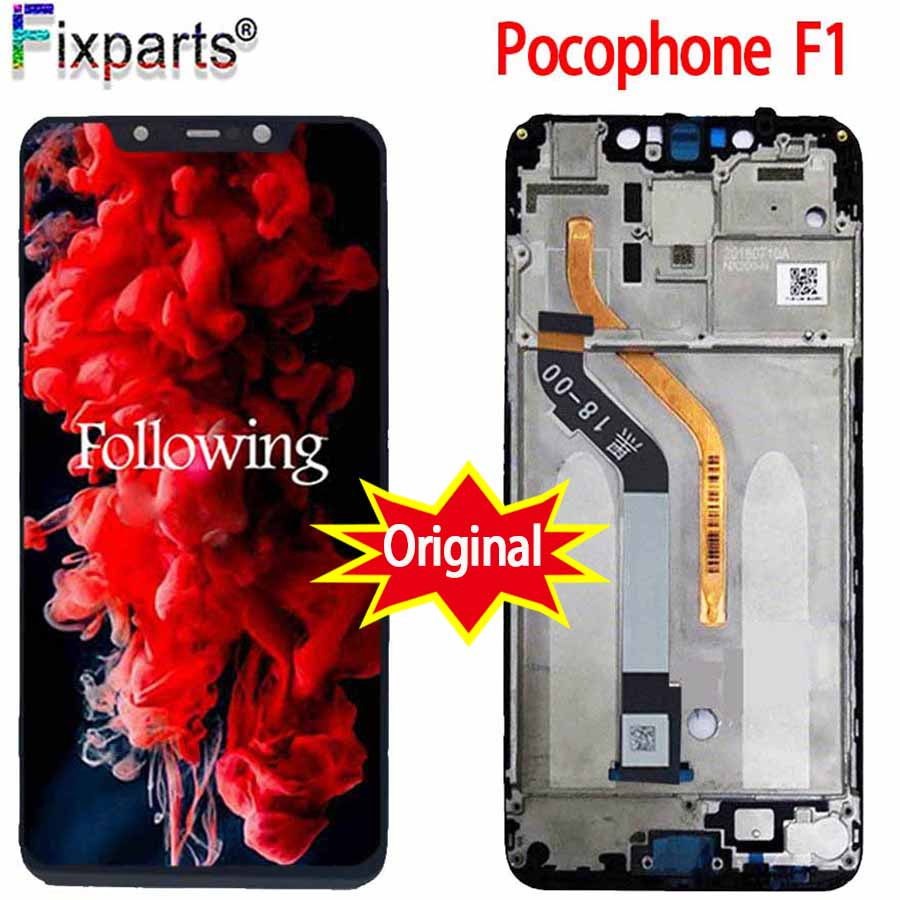 OEM For <font><b>Xiaomi</b></font> Poco F1 LCD <font><b>Display</b></font> Touch Screen Digitizer Assembly Replacement For <font><b>Xiaomi</b></font> Mi Pocophone F1 LCD <font><b>Xiaomi</b></font> F1 LCD image