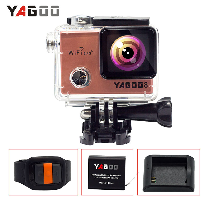 Ntk96660 YAGOO8 16MP diving action camera 4k 24fps Wifi helmet underwater camera extreme Mini Sports Action Cam go sports pro extreme sports surf