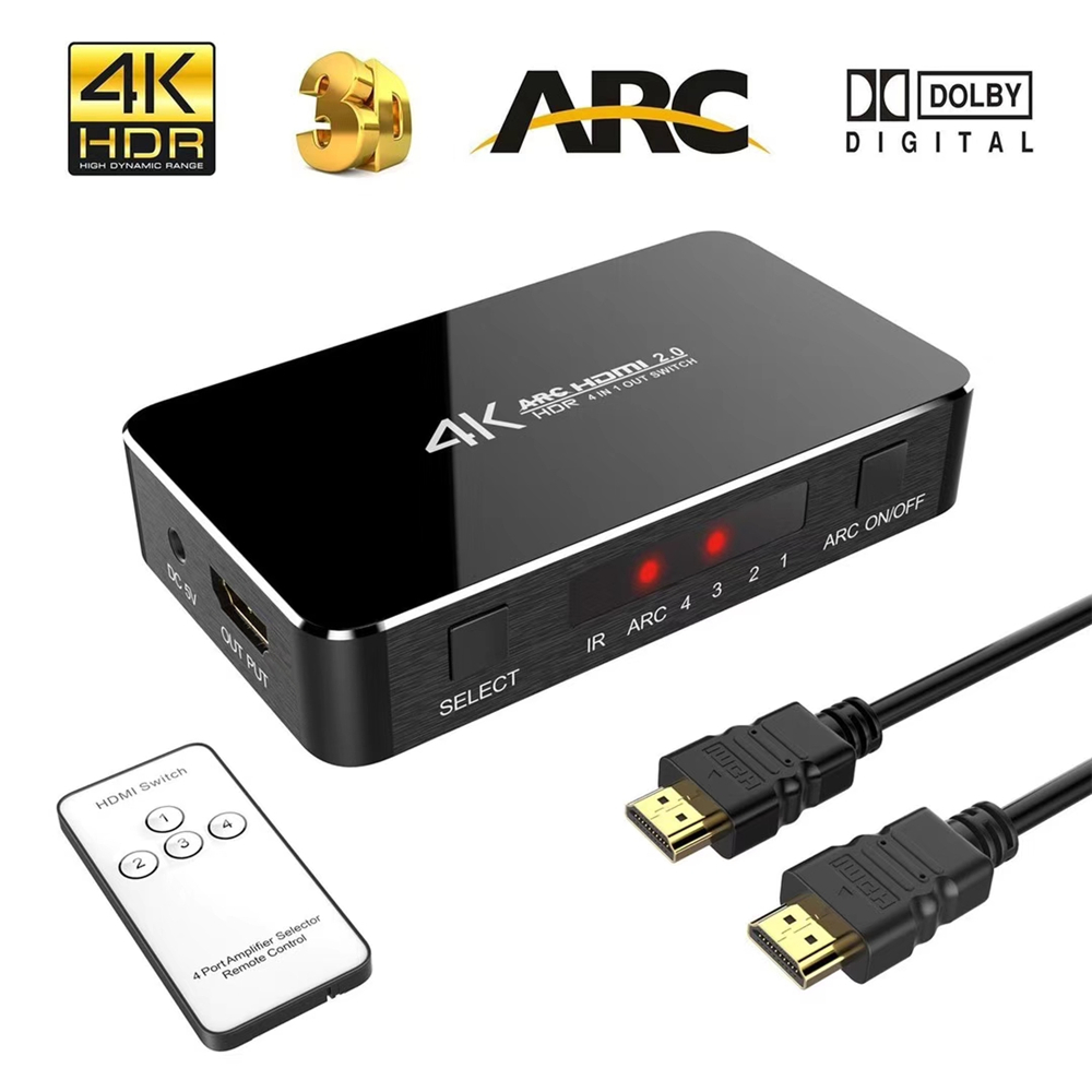 US $35 17 49% OFF 4K@60Hz 4 Port HDMI 2 0 Adapter HDMI Splitter Switch 4  Input 1 Output HDMI Switcher 4X1 For XBOX 360 PS4/3 Smart Android HDTV -in