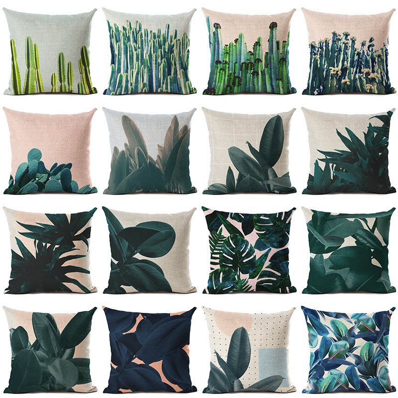 New Hot Selling Cactus Cushion Cover Decorative Sofa Throw Pillow Car Chair Home Decor Pillow Case almofadas