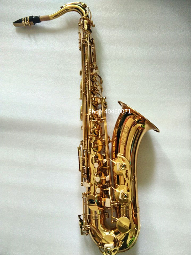 Saxophone tenor Bb France SELMER STS-802 model Sax the golden tenor Saxopfone Specializes musical instruments Gift way shipment wholesale france 54 bronze copy henry selmer tenor saxophone instrument reference