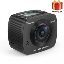 Cewaal Action Camera VR 360 8MP HD Shooting Waterproof Digital Video Camera COMS Sensor Wide Angle Lens Camera With Little Gift