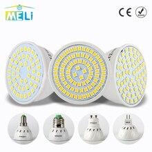 Светодиодный прожектор GU10 E27 MR16 светодиодный Лампа 220 V 48 60 80 светодиодный s 2835 SMD теплый белый холодный белый свет для дома Lampada светодиодный освещение