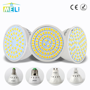 LED Spotlight GU10 E27 MR16 LED Lamp Bulb 220V 48 60 80LEDs 2835 SMD Warm White Cold White Light for Home Lampada LED Lighting(China)