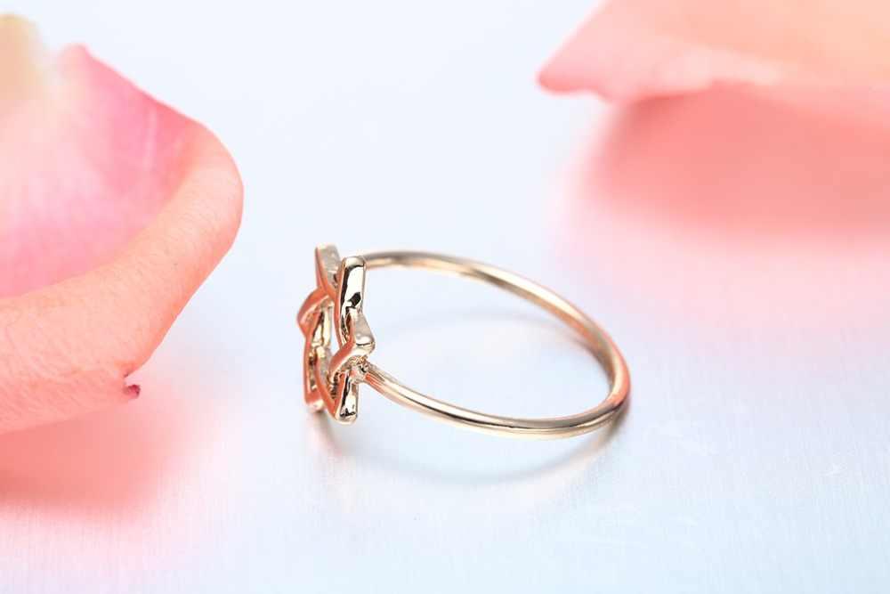 QIAMNI 10 ชิ้น/ล็อตคู่สามเหลี่ยมแหวนสำหรับหญิงสาวที่ไม่ซ้ำกันแม่แหวนเครื่องประดับ Minimalist หญิงสาวของขวัญวาเลนไทน์