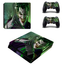 Joker Vinyl Decal Warp Skin PS4 Slim Sticker for Playstation 4 PS4 S Console and Two Controller Skins