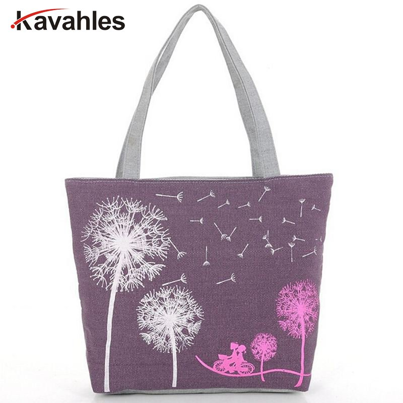 Sale New 2018 Fashion  Dandelion Canvas Bag Flowers Women Handbag Shoulder Bags Women Messenger Bags   A40-123