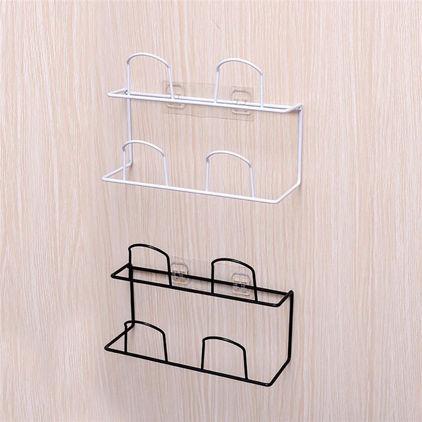 Wall Mount Shoe Rack Storage Organizer Iron Shelf Slipper Organiser Stand Closet Cabinet Holder Hook Bathroom Space Save 1208#