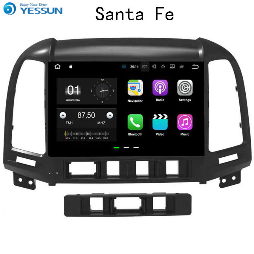 YESSUN Android Car Navigation GPS For Hyundai Santa Fe 2006~2012 Audio Video HD Touch Screen Stereo Multimedia Player No CD DVD yessun for jeep wrangler 2011 2017 car navigation gps android audio video hd touch screen stereo multimedia player no cd dvd