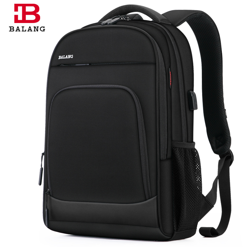 BaLang  Anti theft 20L Large Capacity 15.6 inch College Backpacks Men Black Backpack Female Women Mochila Laptop Bag15.6 17 inch
