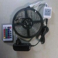 RGB LED Strip 3528 5M Waterproof IP65 300LED 24KEY Or 44KEY IR Remote Controller 12V Flexible