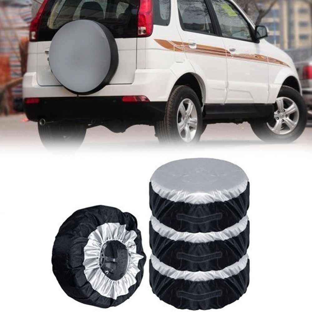 1PCS Tire Cover Case Car Spare Tire Cover Storage Bags Carry Tote Polyester Tire For Cars Wheel Protection Covers 4 Season