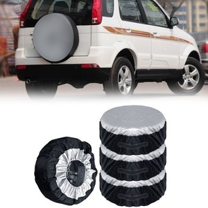 Image 1 - 1PCS Tire Cover Case Car Spare Tire Cover Storage Bags Carry Tote Polyester Tire For Cars Wheel Protection Covers 4 Season