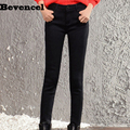 3071 winter high waist jeans trousers for women  black elastic pencil pants women's winter plus velvet skinny pants