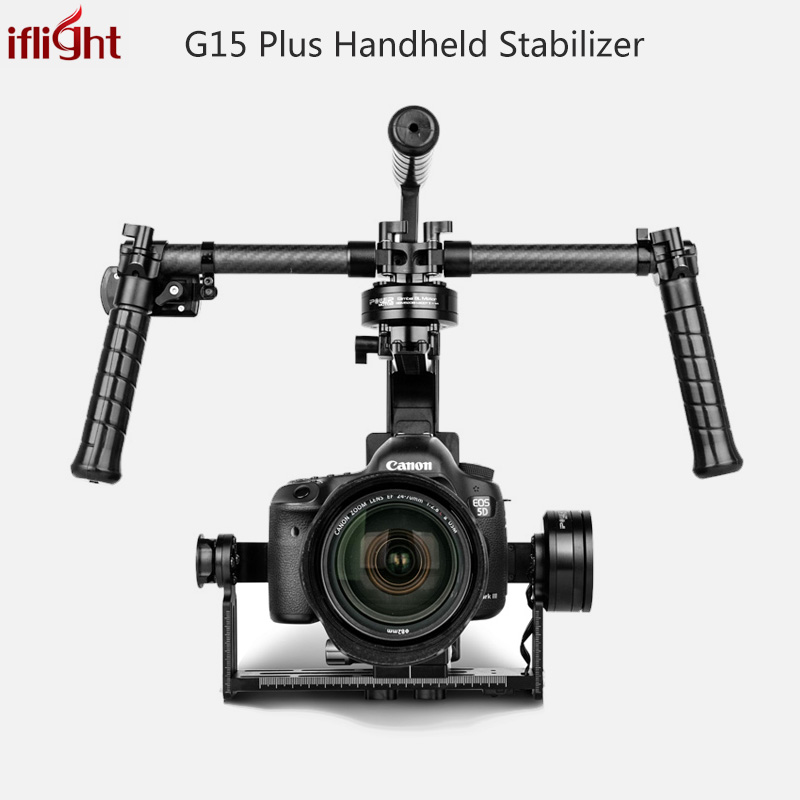Upgraded RTF iFlight G15 DSLR Handheld Brushless Gimbal w/Alexmos BASECAM Controller Motor w/ Encoder for 5D/GH3//GH4/A7S/BMPCC bestablecam h4 rtf brushless handheld encoder mirrorless digital camera gimbal gyro stabilizer for gh3 gh4 a7s nex5 bmpcc