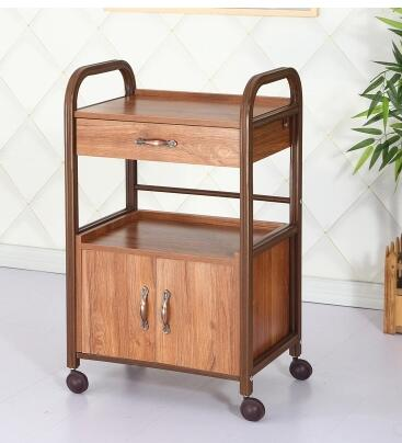 Beauty cart Chinese style with drawer tools cabinet fire cupping traditional medicine tool car beauty salons.