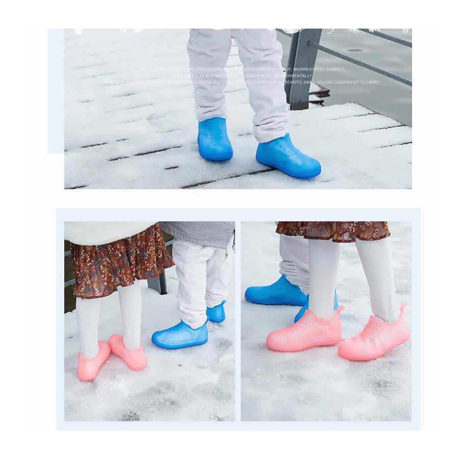 1 paar Männer Frauen Kinder Wasserdicht Wiederverwendbare Regen Schuhe Abdeckungen Gummi Slip-beständig Regen Boot Überschuhe Schuhe Schützen Zubehör