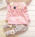 Baby Girl Clothes 2015 Spring Fashion Newborn Baby Girls Clothes Set Infant Girl Long Sleeve Clothing 7M-2T
