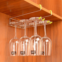 304 Stainless Steel Cup Holder Wine Glass Hanging Shelf Wine Cup Glass Wine Rack Wall Suction