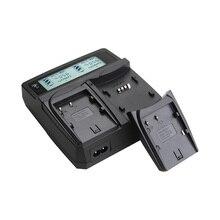 Cargador doble para sony fm50 np fm50 npfm50 batería qm71 qm91 QM71D QM91D F550 F750 F960 F970 F770 F570 VBD1 Con LCD pantalla