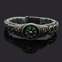 Dolaime Fashion Climbing Outdoor Multifunctional Compass Punk Bracelets Men Or Women Trendy Jewelry Christmas Gift GB680