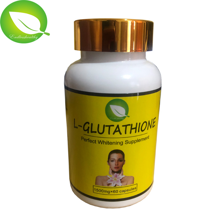 5 bottles l glutathione perfect whitening supplement skin whitening capsules for black skin African people use