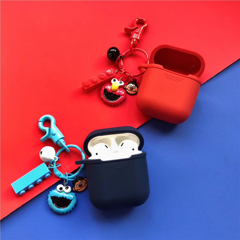 Cute Sesame Street Silicone Case for Apple Airpods Case