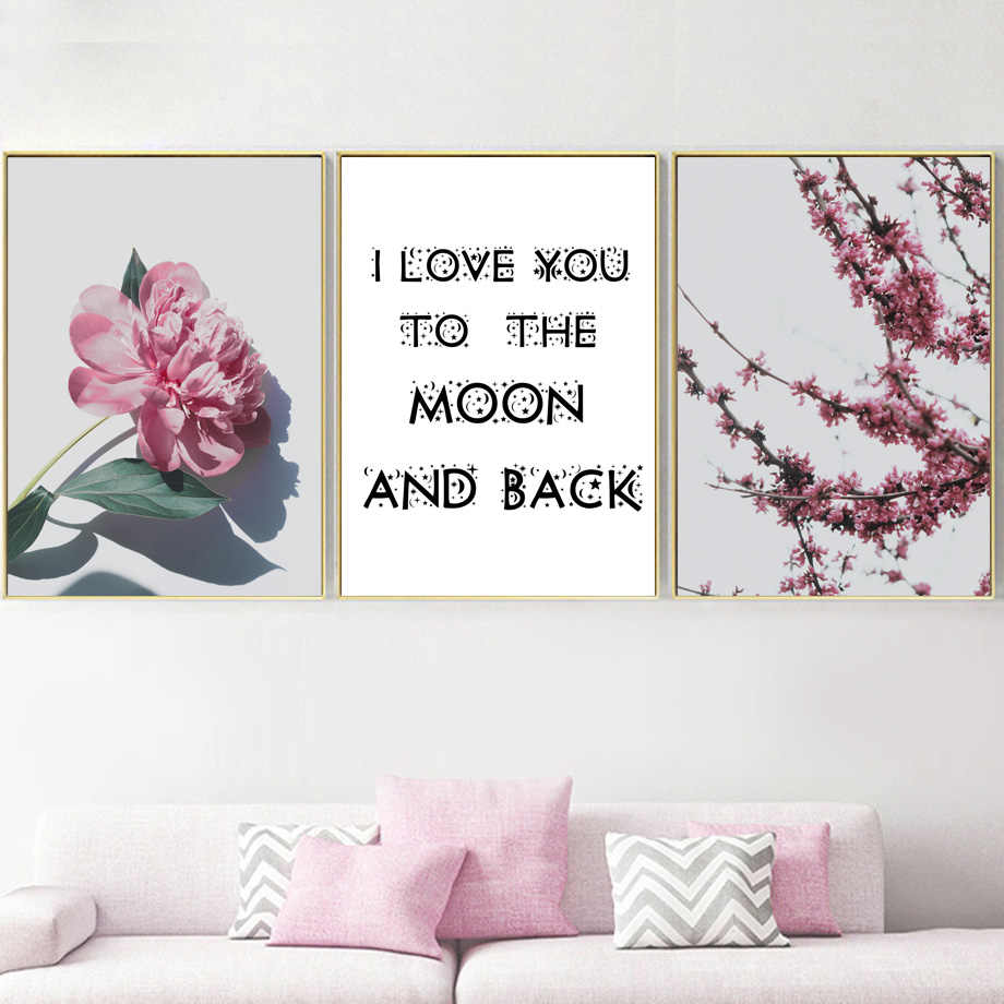 camellia flower quotes nordic posters and print wall art canvas