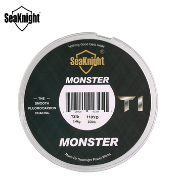 Best No1 SeaKnight MONSTER T1 100% Fishing Line Fishing Lines cb5feb1b7314637725a2e7: Clear White