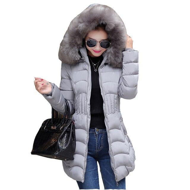 Winter women jacket long down cotton Coat super large collar parka coat plus size thick Nagymaros collar down jacket F876