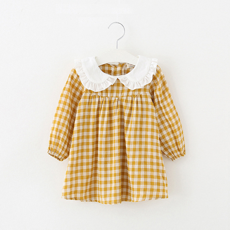 Baby clothes plaid casual newborns infant costumes 1st birthday party dress a-line cotton clothing baby girls princess dresses письменный стол первый мебельный стол письменный паскаль