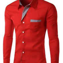 2015 Hot sale Free shipping New Designer Fashion Luxury Slim Fit Dress Men s Shirts 8012