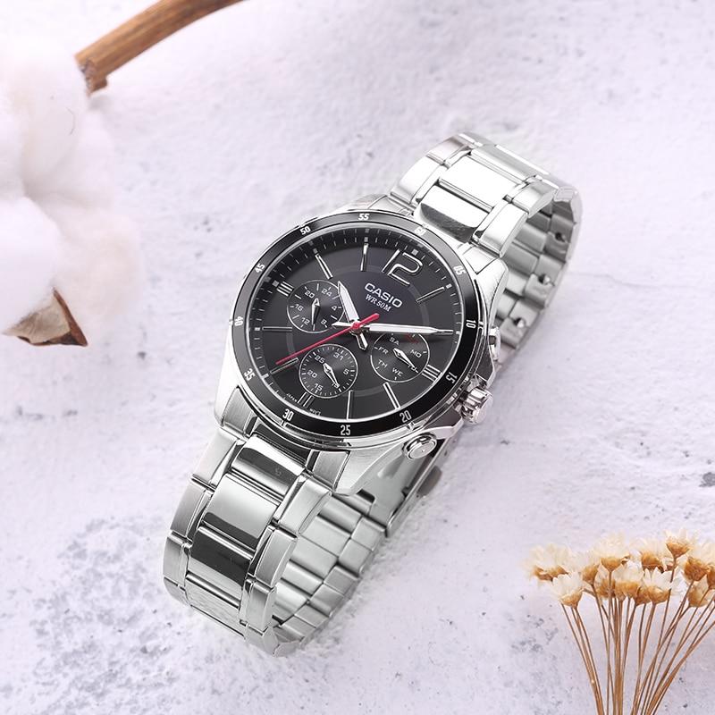 0bf86d9c3103 Casio reloj casual de negocios de los hombres puntero serie cuarzo ...