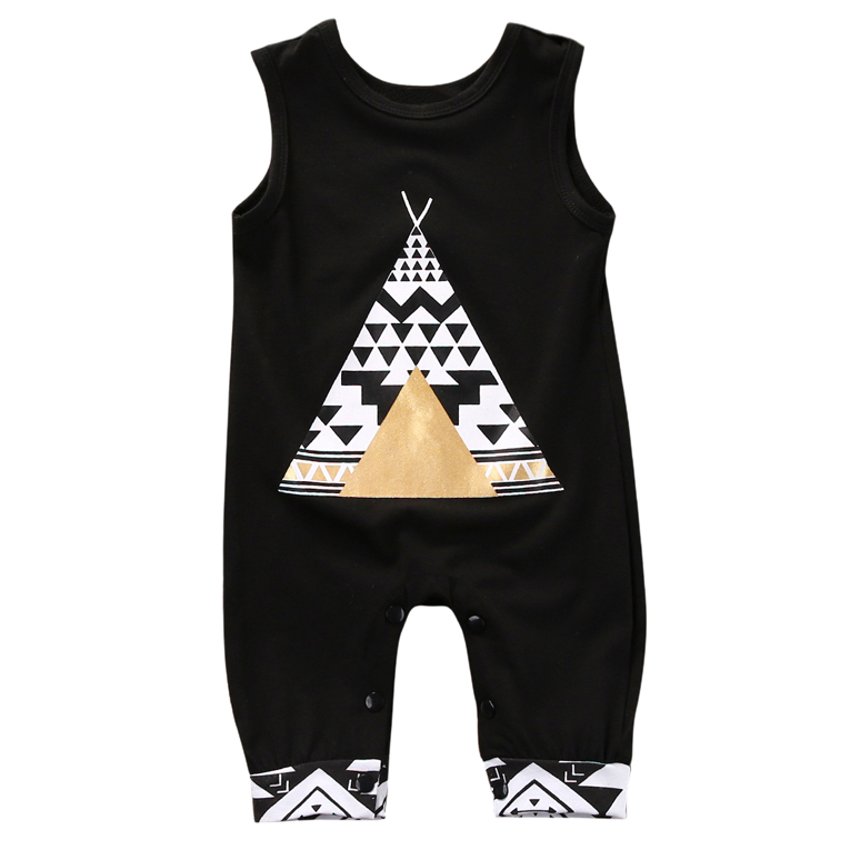 KEOL Best Sale Fashion Toddler Kid Romper Jumpsuit Clothes Outfit Set Colors:Black - Size:0-6 Months Tent