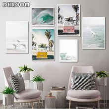 Nordic Landscape Beach Ocean Wall Art Picture Scandinavian Poster Print Camper Canvas Painting on The Living Room Decor