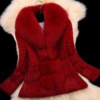 100% natural animal fur collar coat thick warm rabbit fur mink coat woman winter coats Mink real fur coat