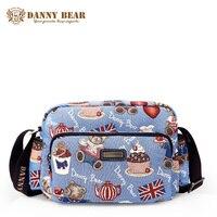 DANNY BEAR Fashion Blue Small Messenger Bags For Teenage Girls Women Vintage Crossbody Bag Female Brand Designer Shoulder Bags