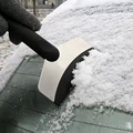 Auto Car Vehicles Ice Scraper Snow Shovel Window Ice Removal Cleaning Tool Stainless Steel + Anti-freezing Rubber