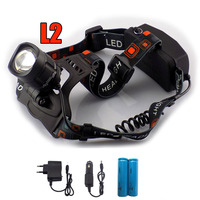 Powerful Cree L2 Led Headlamp Frontale Zoom Focus Usb Port Head Light Lamp Torch Led Flashlight
