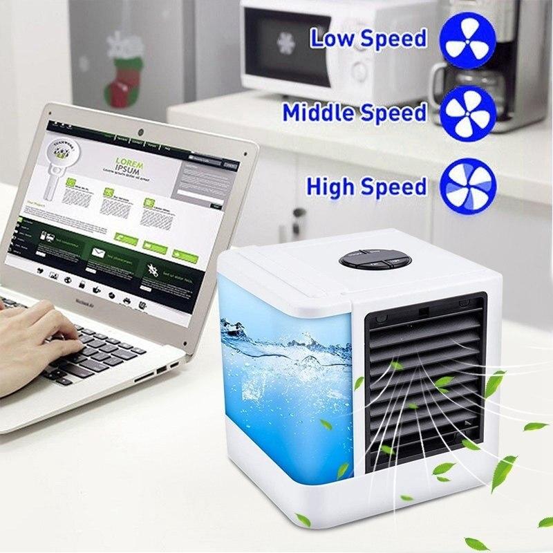 Condicionador de Ar portátil Mini Ventilador Cooler Espaço Pessoal A Maneira Rápida e Fácil para Esfriar Qualquer Espaço de Escritório Em Casa Mesa de Ar condicionado