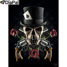 DIAPAI 5D DIY Diamond Painting 100% Full Square/Round Drill Beauty skull Embroidery Cross Stitch 3D Decor A21873