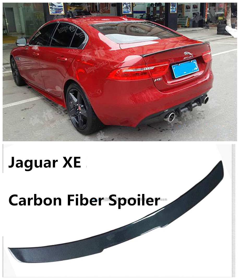 Jaguar Xe Rear: For Jaguar XE 2015.2016.2017.2018 Carbon Fiber Spoiler