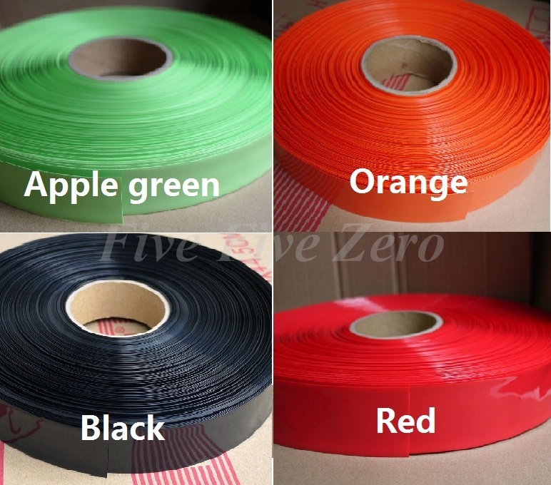 43mm diameter 27mm PVC Heat Shrink Tubing for 26650 Battery Wrap  3 Meters colour1