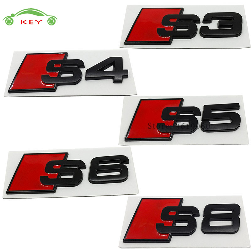 for Audi Accessories Car Styling Auto Decor Decal Emblem Badge for s3 s4 s5 s6 s8 Logo S ...
